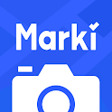 Marki: Camera with Auto Time & Location Watermarks icon