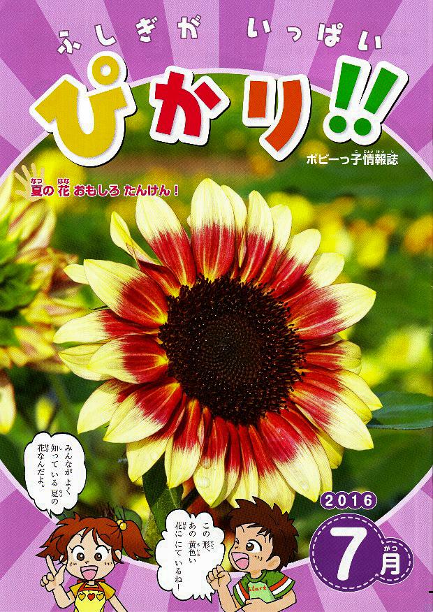ポピーっ子情報誌『ぴかり!! 7月号』表紙