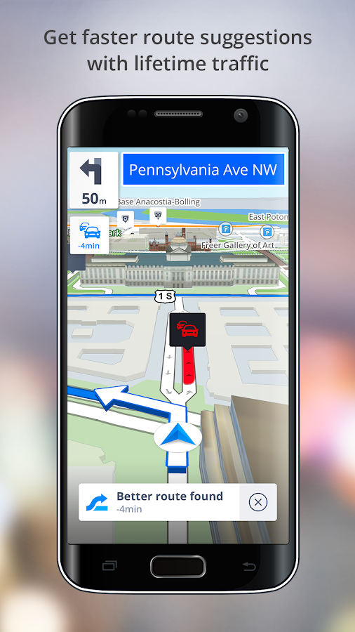 Gps Navigation Drive With Voice Maps Amp Traffic