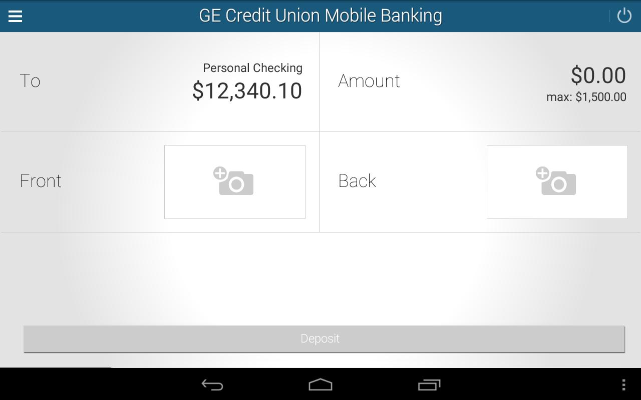 GE Credit Union Mobile Banking- screenshot
