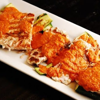 Grilled Salmon with Spanish Romesco Sauce Recipe
