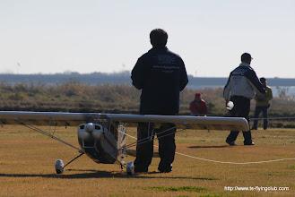 Photo: 曳行パイロットデビューのM本さん。よろしくお願いします。