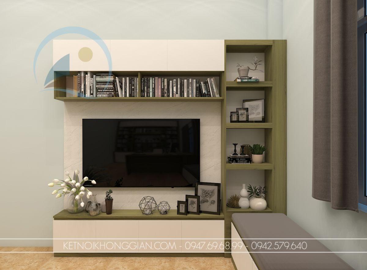 thiết kế nội thất phòng đọc sách kiêm phòng làm việc 1