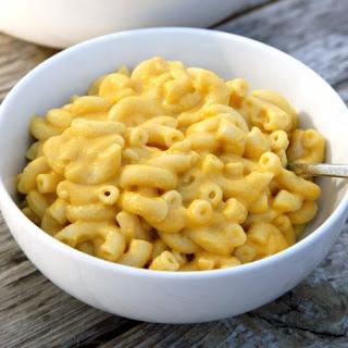 Creamy Vegan Mac and Cheese.