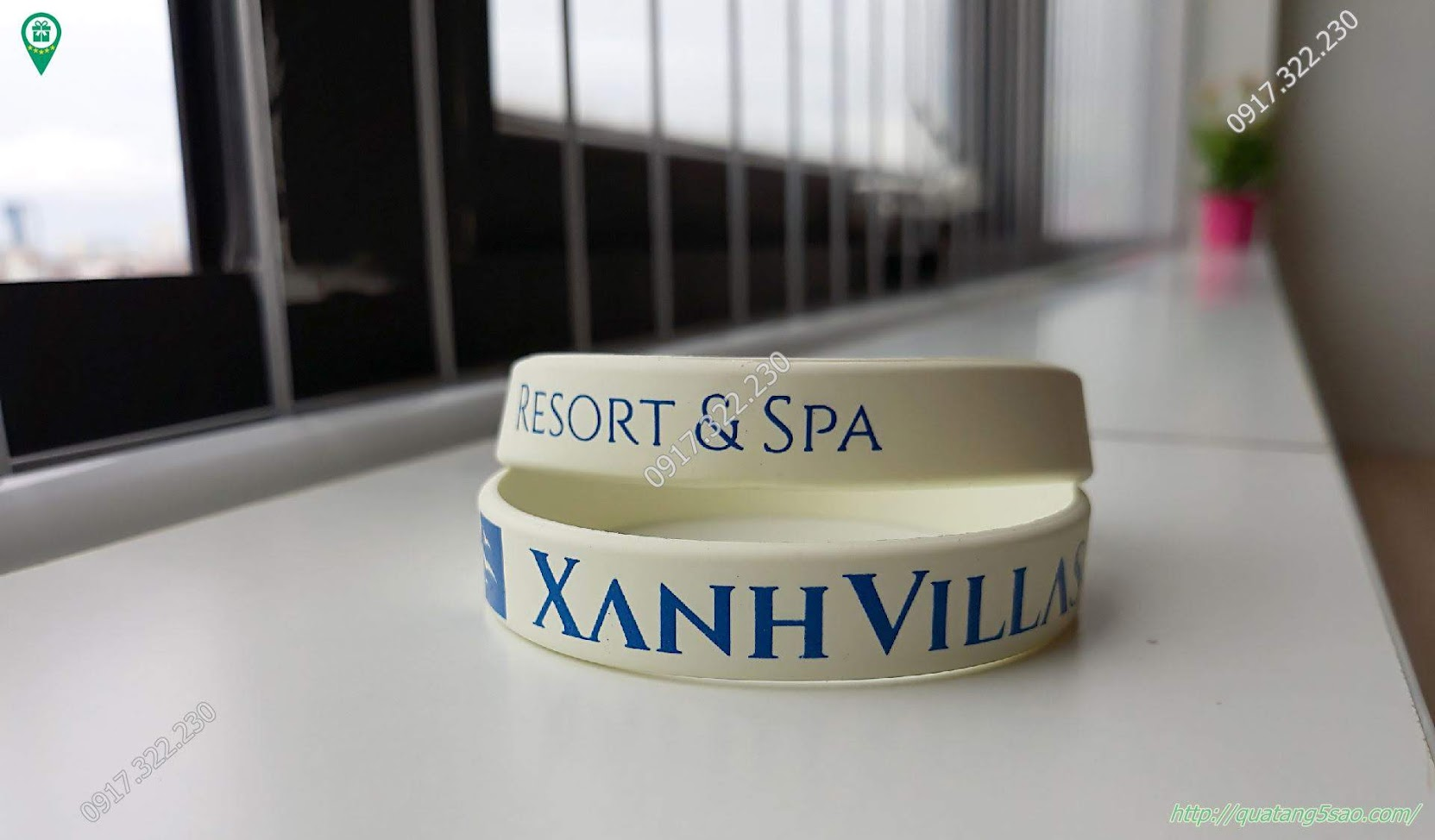 Vòng tay cao su Xanh Villas - Resort & Spa