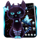 Tema Dark Neon Kitty icon