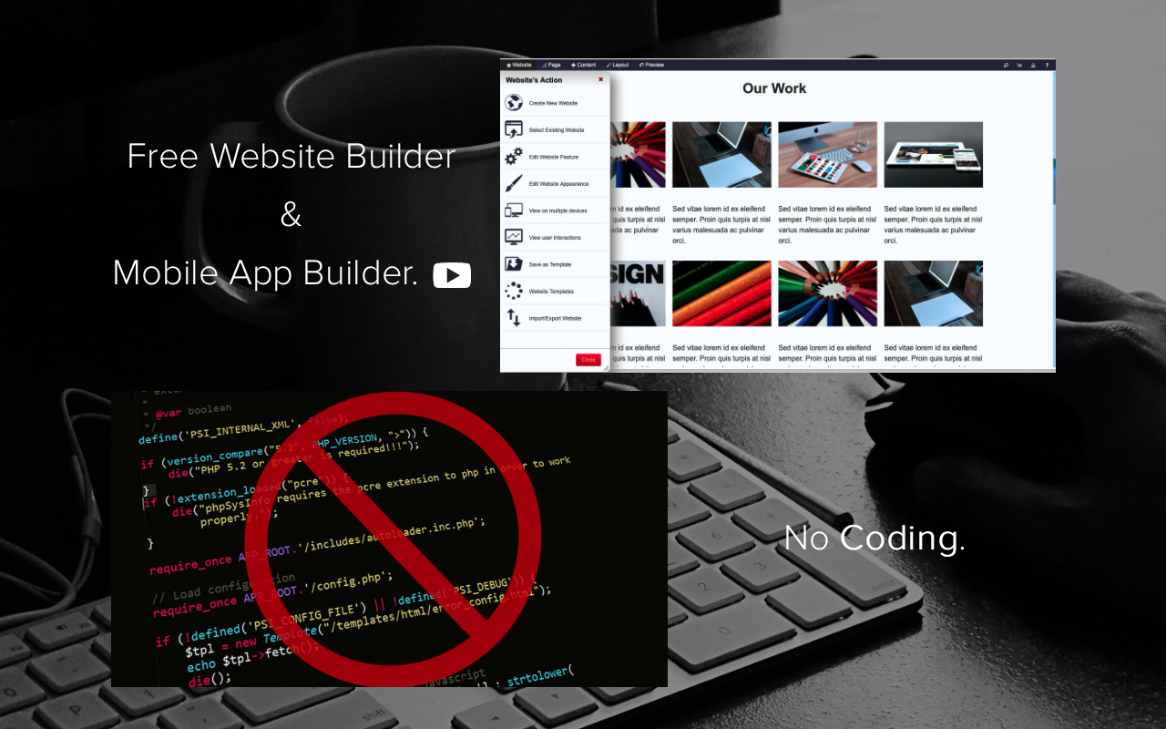 Website Builder & Mobile App Screenshot