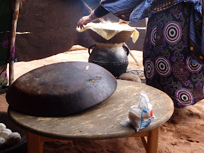 Photo: Cooking in desert.