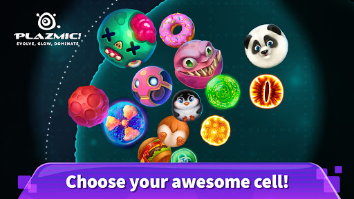 Plazmic! ud83euddeb Eat Me io Blob Cell Grow Game apkdebit screenshots 2