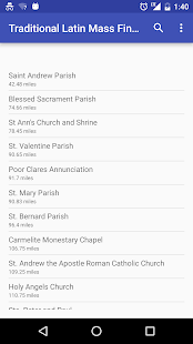 Traditional Latin Mass Finder- screenshot thumbnail