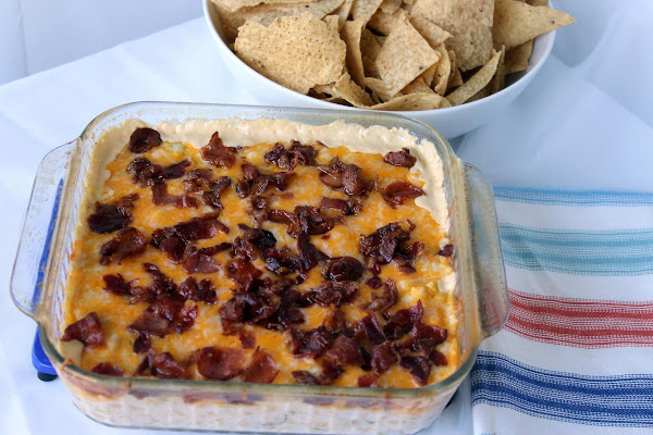 Cheesy Corn Dip With Bacon And Jalapenos Recipe