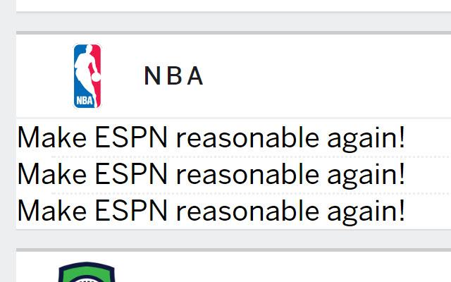Make ESPN Reasonable Again