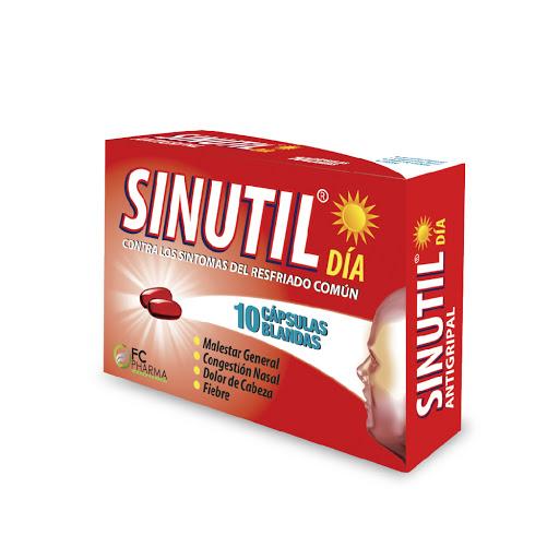 Acetaminofen + Cafeina + Clorfeniramina Sinutil Día 500/10/2mg x 10 Capsulas FC Pharma