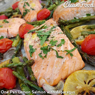 One Pan Lemon Salmon with Asparagus