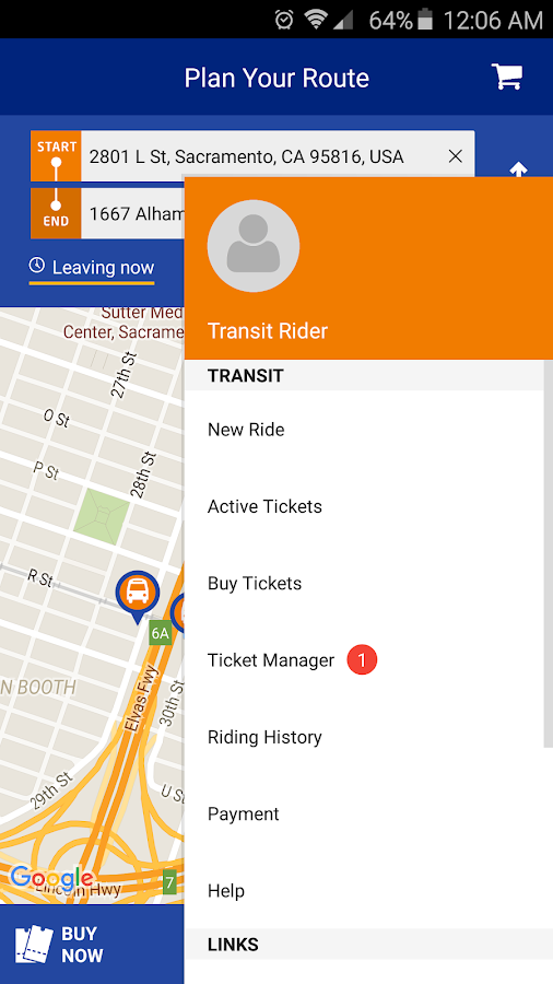 RideSacRT- screenshot