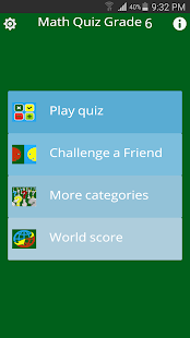 Math Quiz Grade 6- screenshot thumbnail