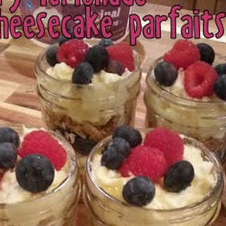 Raspberry Lemonade Cheesecake Parfaits