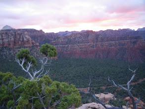 Photo: East facing sunrise on day 0, while climbing Moqui Peak