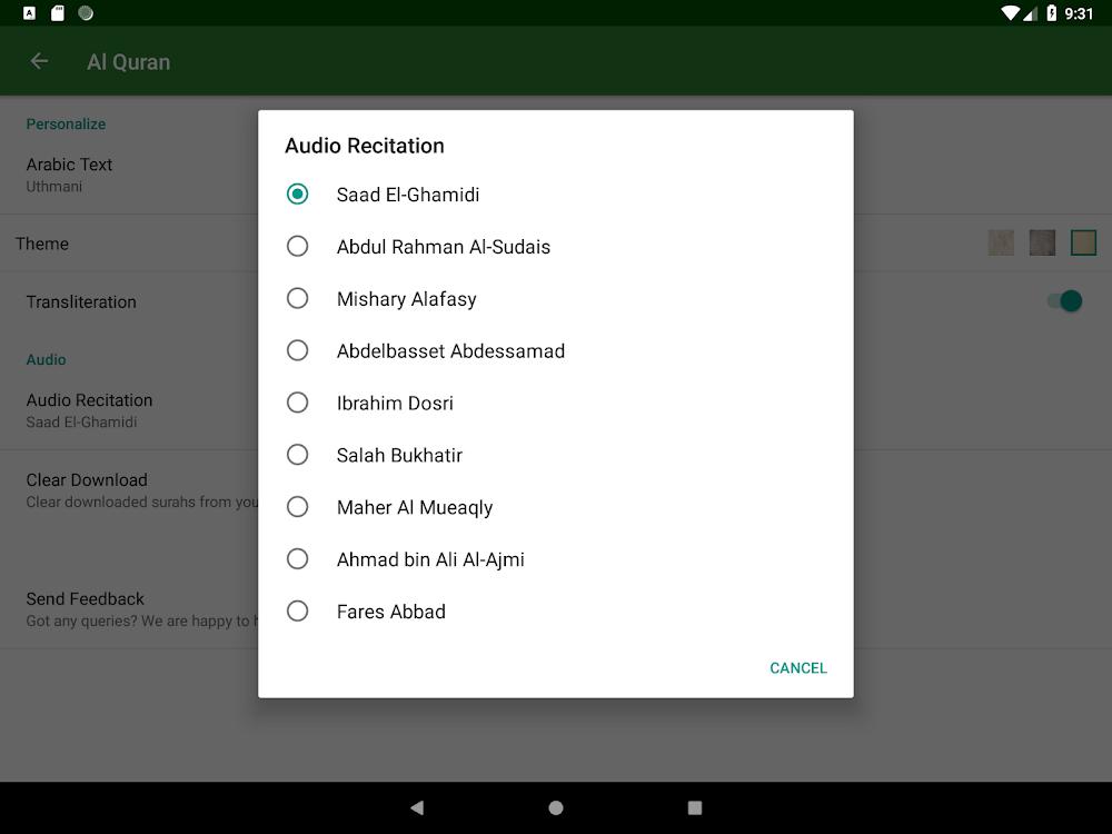 Al Quran (Read & Listen) – (Android Applications) — AppAgg