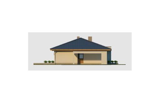 Alabama 3 wersja C z pojedynczym garażem - Elewacja lewa