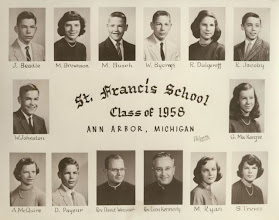Photo: 8th grade graduating class of 1958