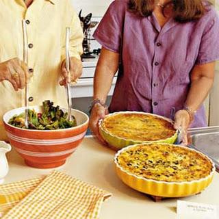 Chicken-Olive-Cheddar Quiche.