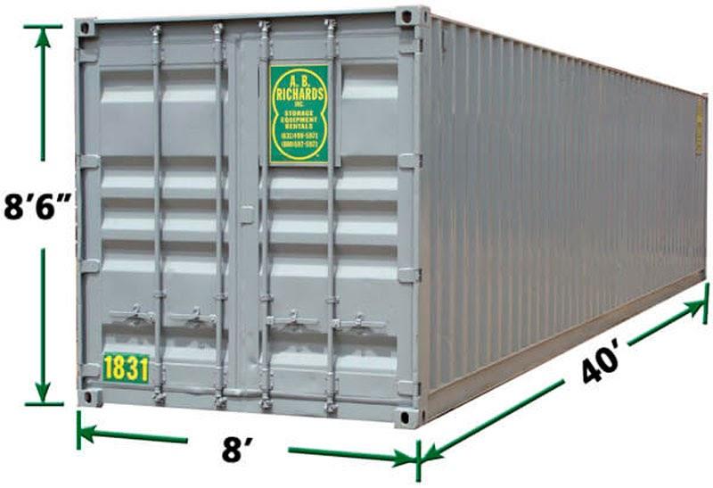 40-футовый контейнер FCL 40