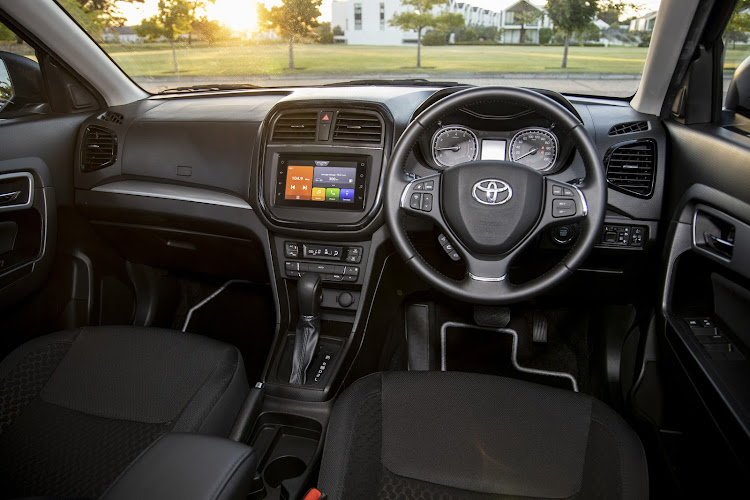 Touchscreen infotainment and Toyota Connect with 15Gb data comes standard. Picture: SUPPLIED