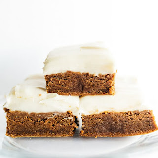 Gingerbread Cookie Bars with Cream Cheese Frosting Recipe