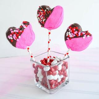 Valentine Heart Marshmallows on a Stick