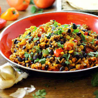 Mexican Fried Brown Rice
