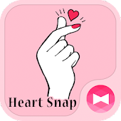 Stylish Wallpaper Heart Snap Theme