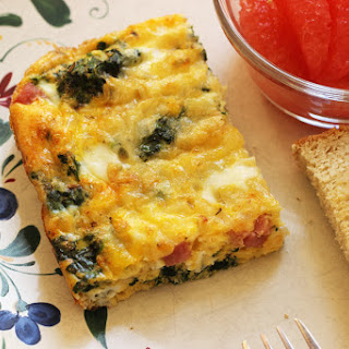 Egg Bake with Ham and Spinach.