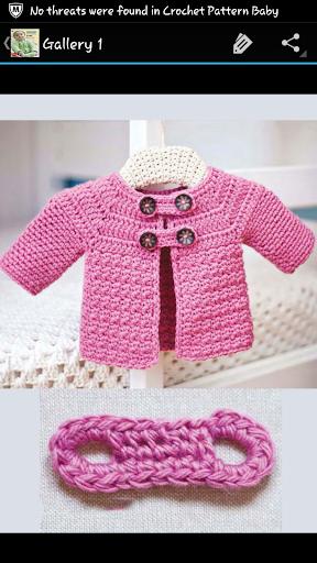 Crochet Pattern Baby Jacket