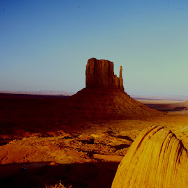 Arizona sunset by John Lewis - Landscapes Deserts ( monument valley butte sunset shadows )
