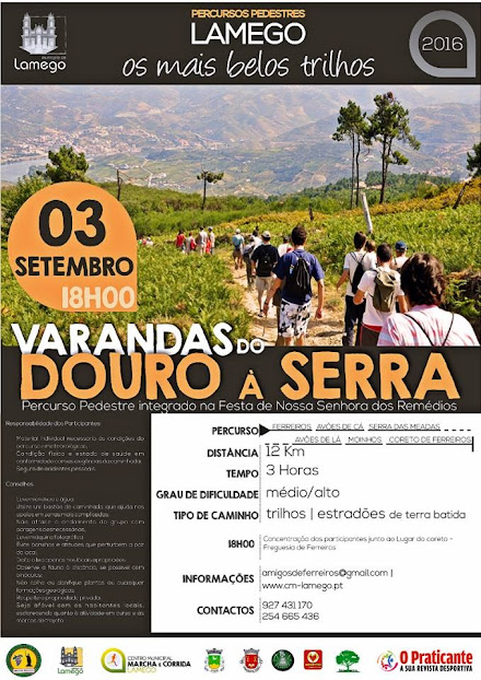 "Percorra a pé as ""Varandas do Douro à Serra"""