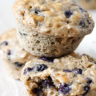 Blueberry Yogurt Oatmeal Muffins.