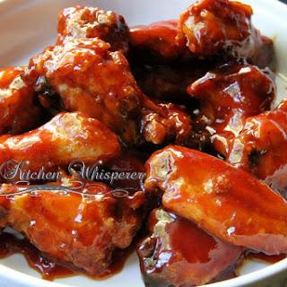 Crispy Baked Oven-Fried Honey BBQ Wings.