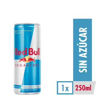 Bebida Energizante RED   BULL Sugarfree x250ml.