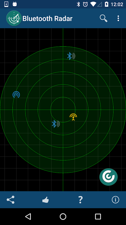 Bluetooth LE Smart Radar- screenshot