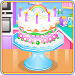 Lovely Rainbow Cake Cooking Icon