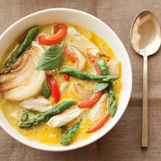 Thai Green Chicken Curry with Asparagus.