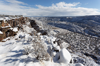 Photo: White Rock Canyon with new snow.