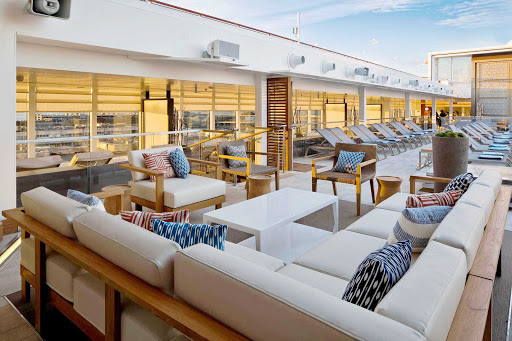 Viking-Star-Main-Pool - Lounge spaces abound on Viking Star, where the main pool features a retractable roof.
