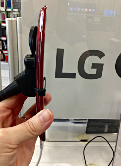 The LG G4 Smartphone has a curved design to fit comfortably in your hand
