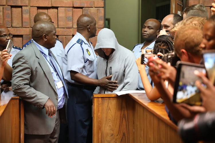 The 20-year-old man accused of raping a child appears at the Pretoria Magistrate's Court.