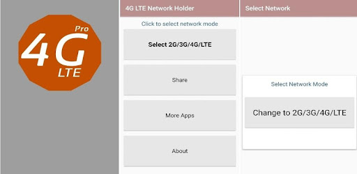 4G LTE Network Holder app set your device to catch 4G/LTE signals