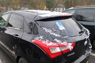 Photo: Neige sur les hauteurs de l'Ardenne (pas à Hamoir)