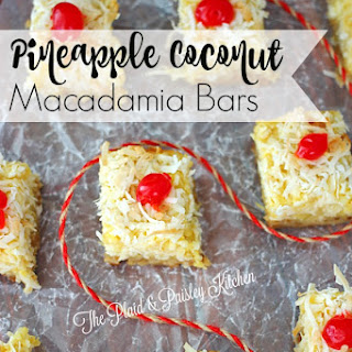 Pineapple Coconut Macadamia Bars