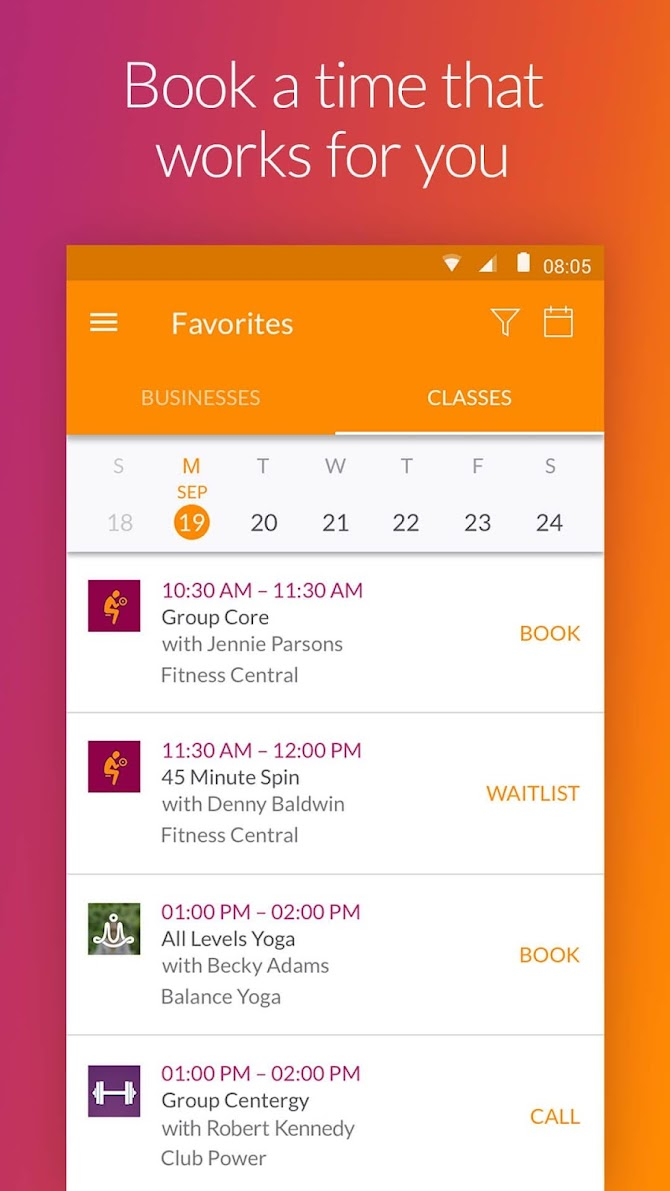 MINDBODY - Fitness & Wellness Android 4
